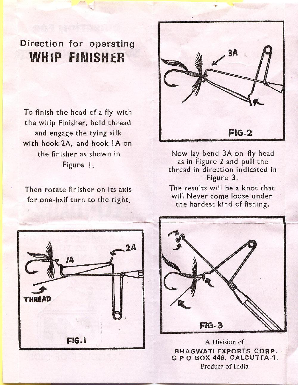 Как пользоваться узловязом при вязании мушек